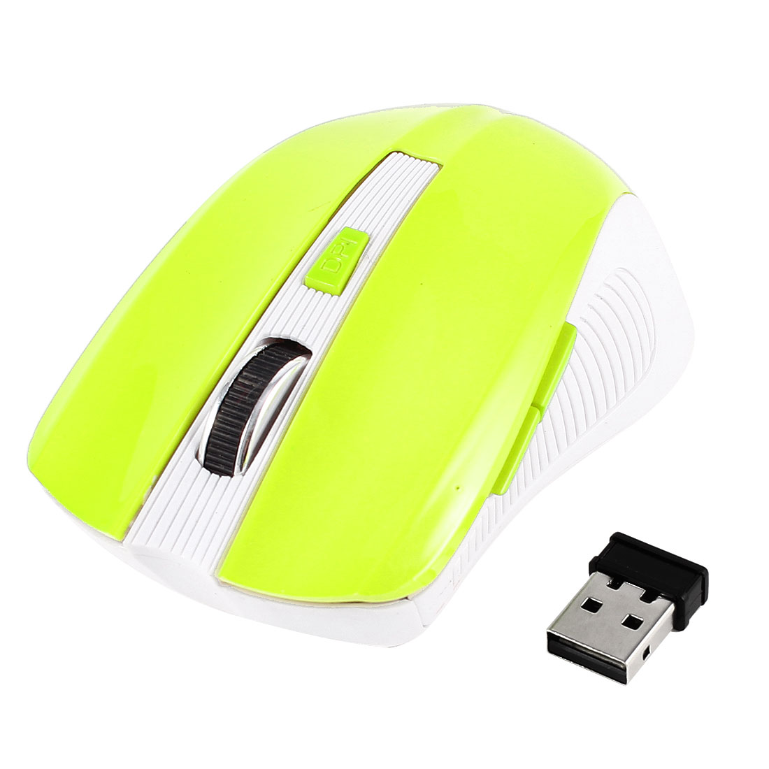2.4GHz Scroll Wheel Optical Wireless Mouse Mice Green for Laptop PC Notebook