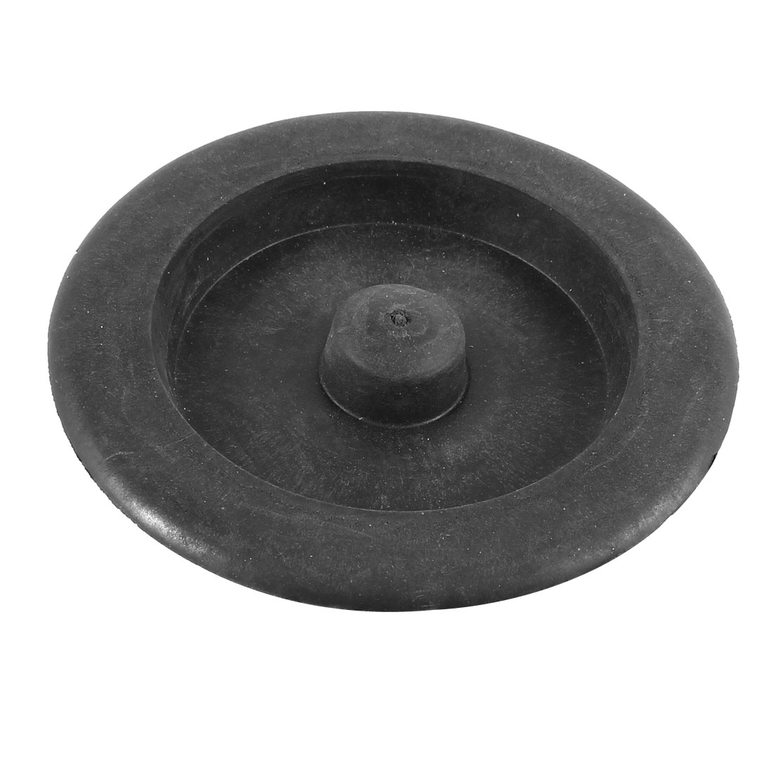 "Bathroom Kitchen Black 3.6"" Diameter Rubber Plug Basin Drain Stopper"