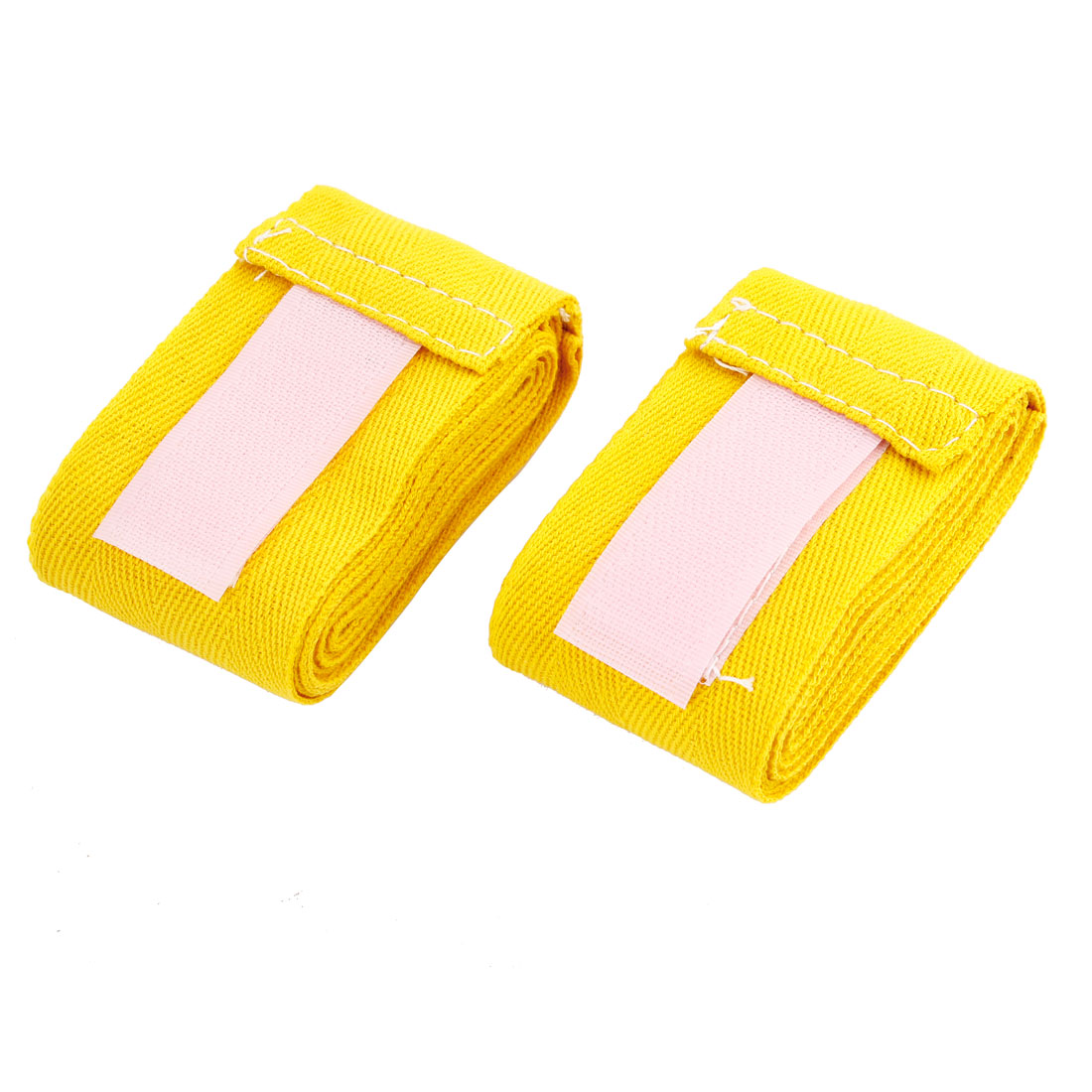 Pair Yellow Sports Boxing Hand Wrap Wrist Supporter Bandages 214cm Length