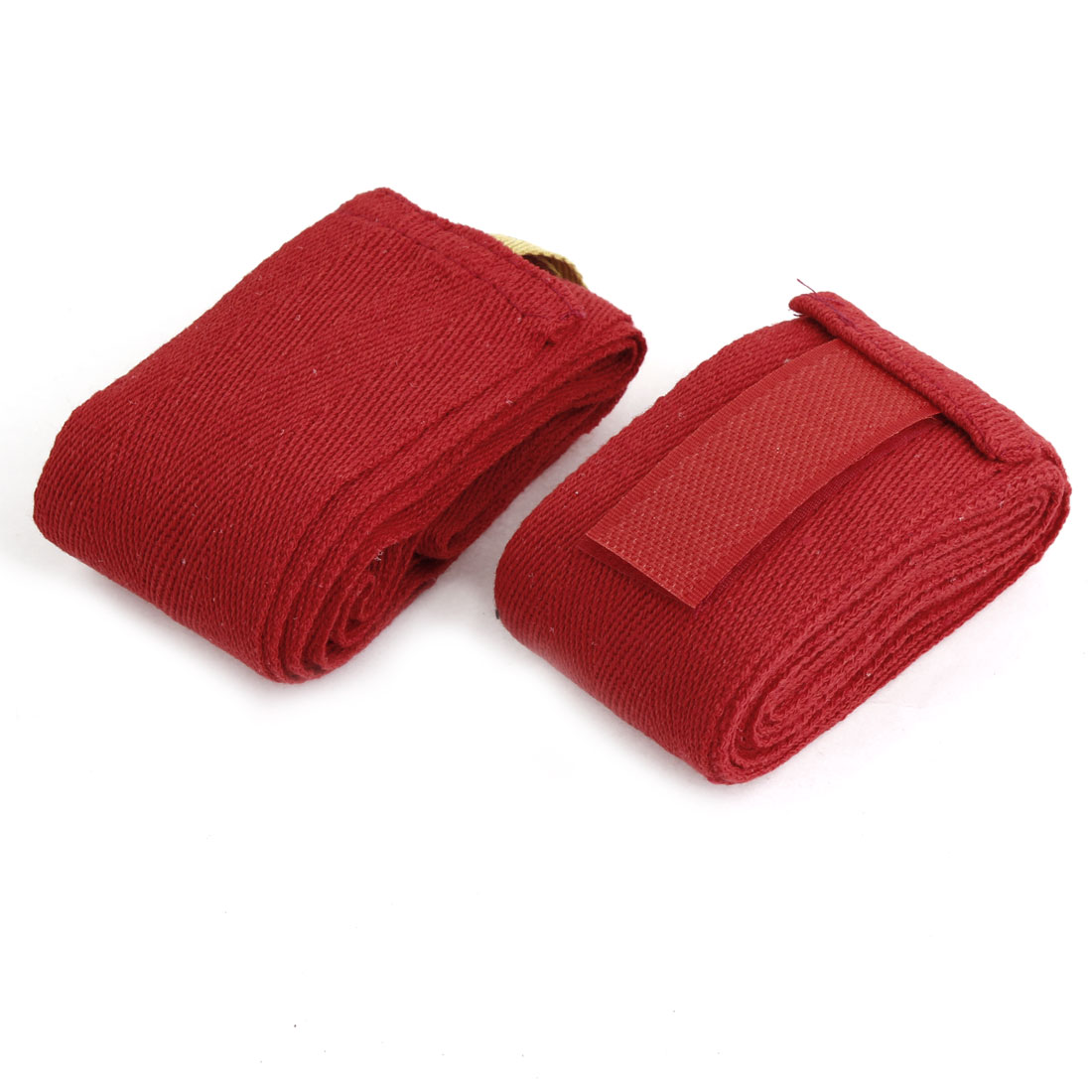 Pair 214cm Length Red Sports Boxing Hand Wrap Supporter Bandages