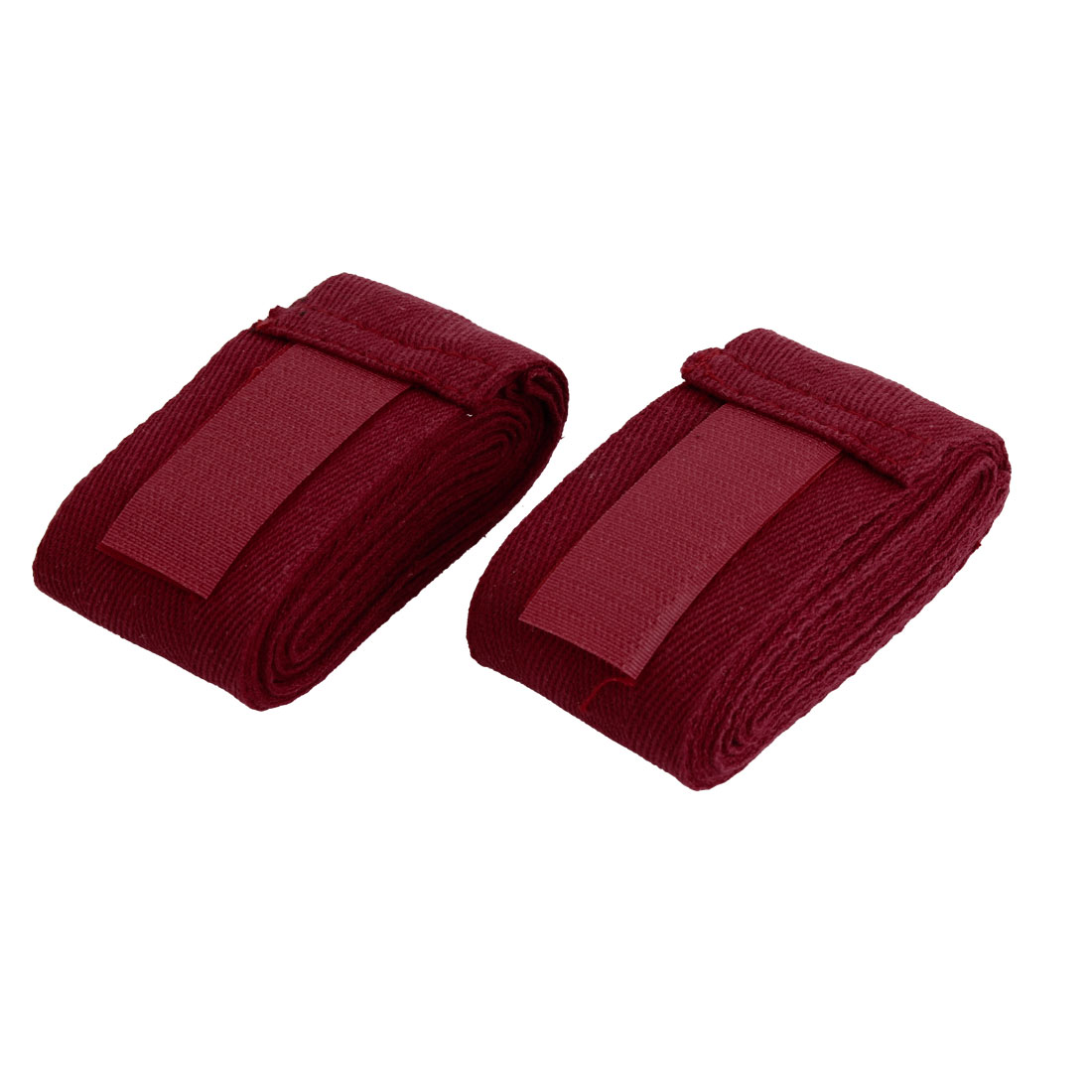 Dark Red Boxing Hand Wrap Supporter Bandage Wrist Protective Gloves 2PCS