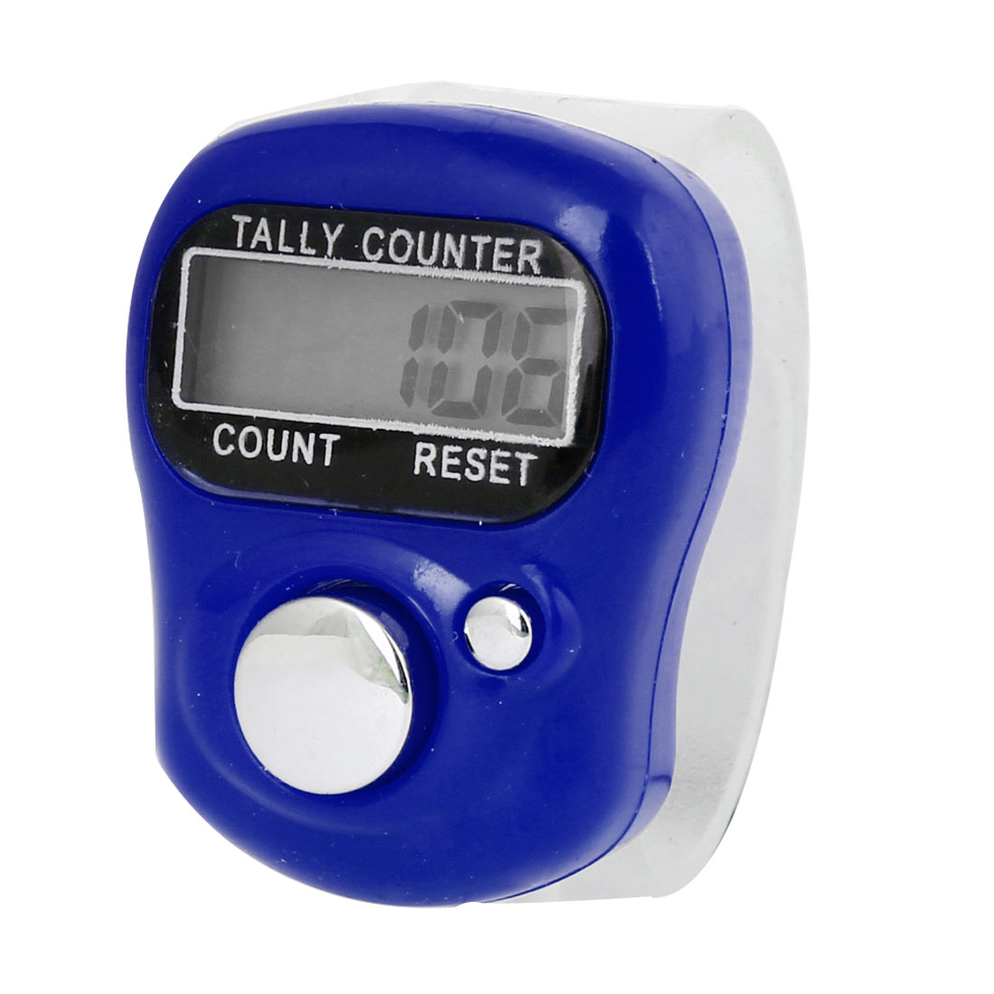 Mini Clear Soft Band Blue Plastic Shell LCD Display Finger Counter Tool