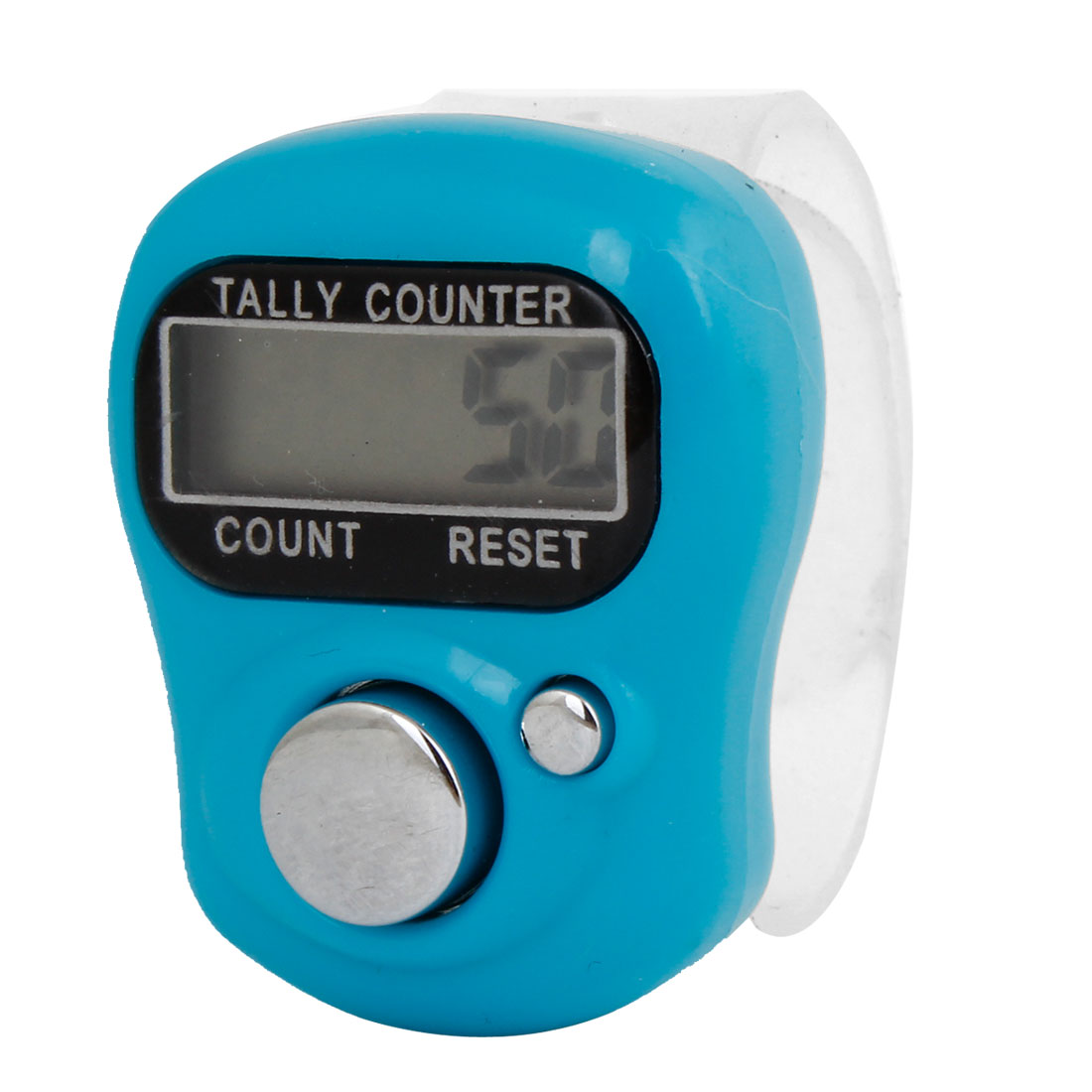 Tally Counter 5-Digit LCD Electronic Digital Finger Hand Held Counter Light Blue