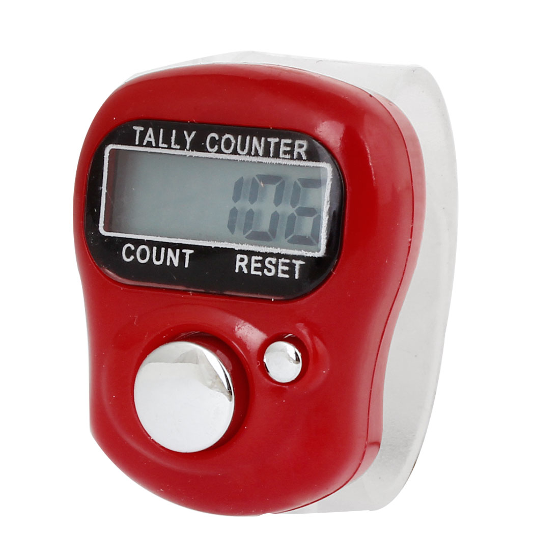 Red Plastic Casing 5 Digits LCD Electronic Finger Counter Hand Tally