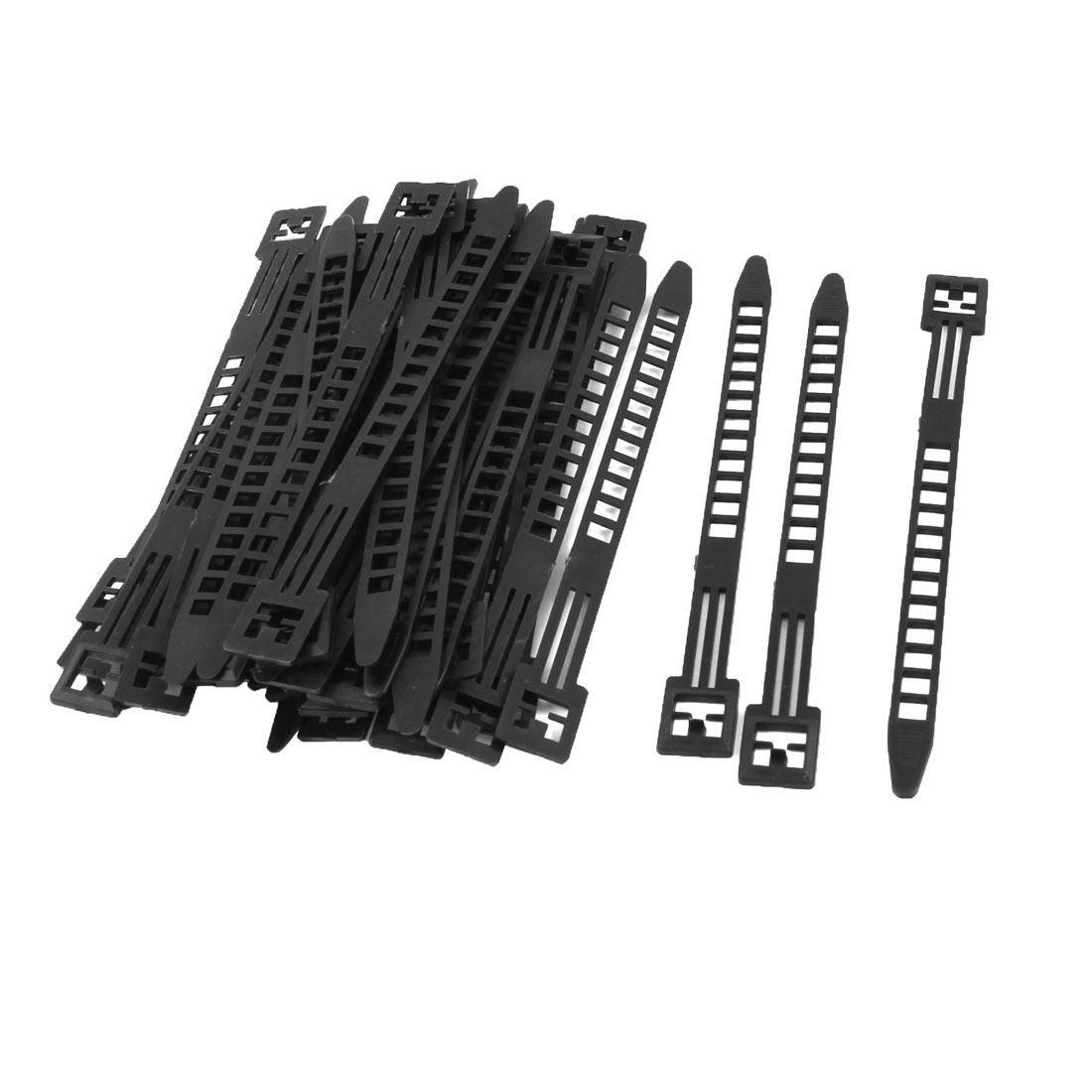 14cm Long Black Packaging Self-locking Adjustable Nylon Cable Ties 50 Pcs