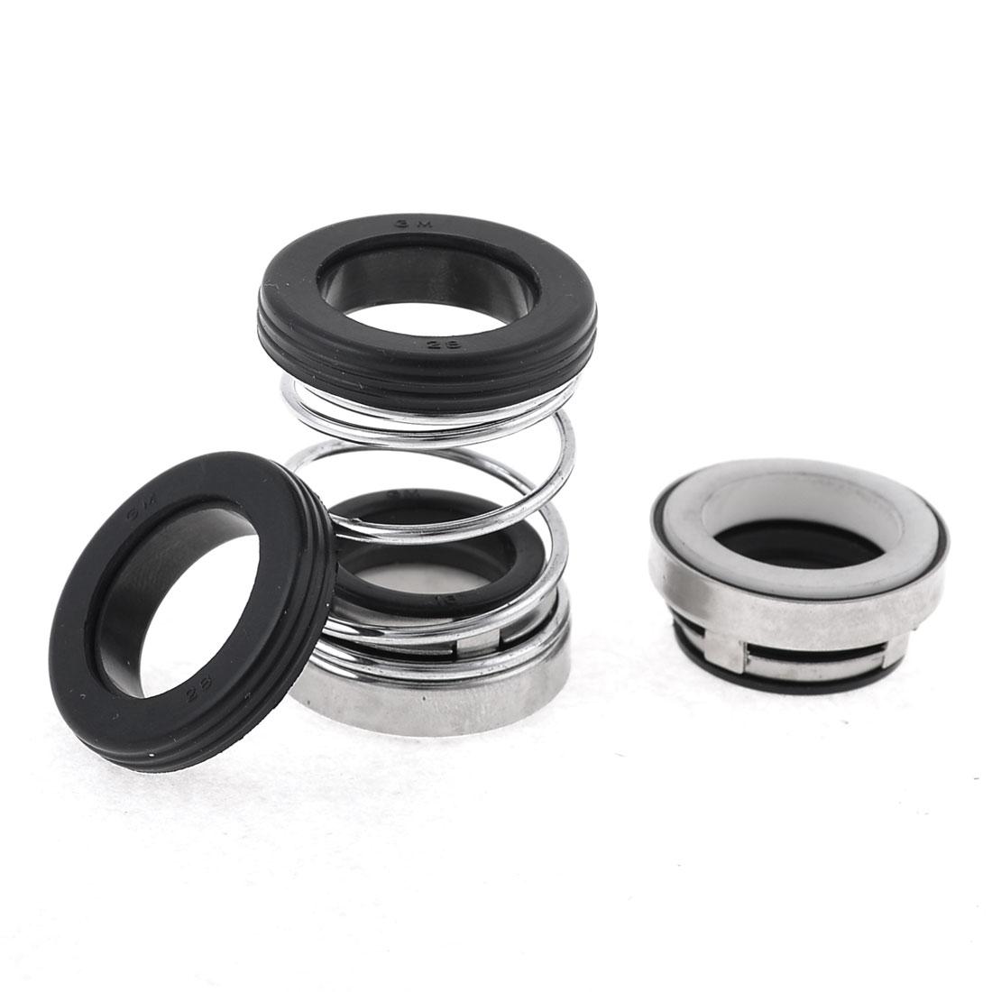 16mm Internal Dia Rubber Bellow Coil Spring Pump Shaft Mechanical Seal