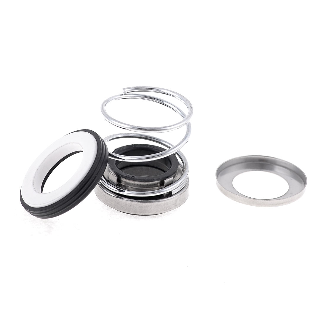 20mm Inner Dia Rubber Bellows Sliver Tone Coil Spring Mechanical Seal