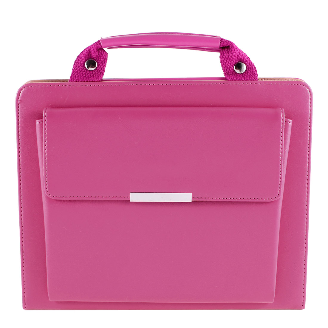 Fuchsia PU Leather Portable Stand Case Cover Hand Bag Pouch for Apple iPad Air 5