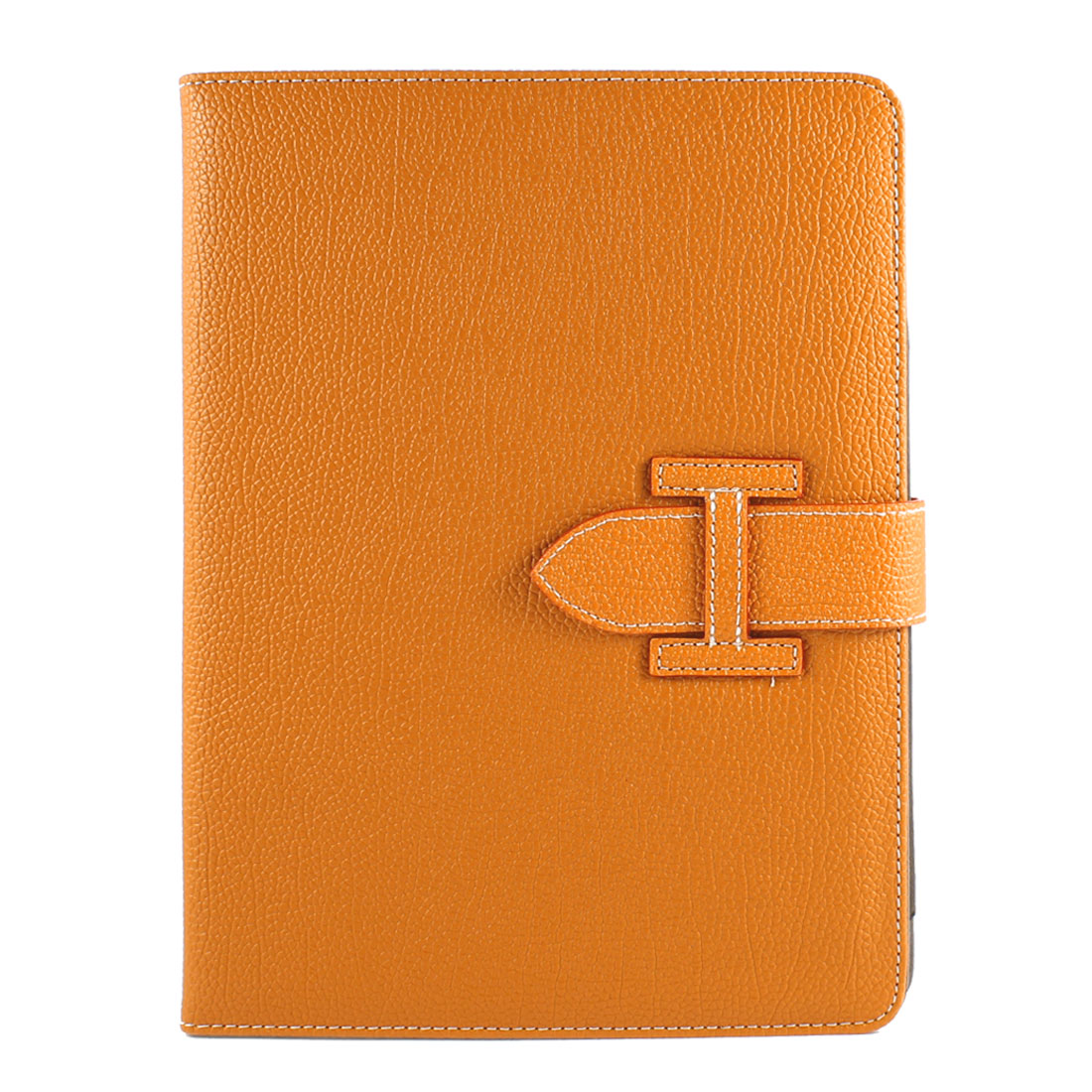 Lichee Pattern PU Leather Flip Stand Case Cover Pouch Orange for iPad Air 5 5th