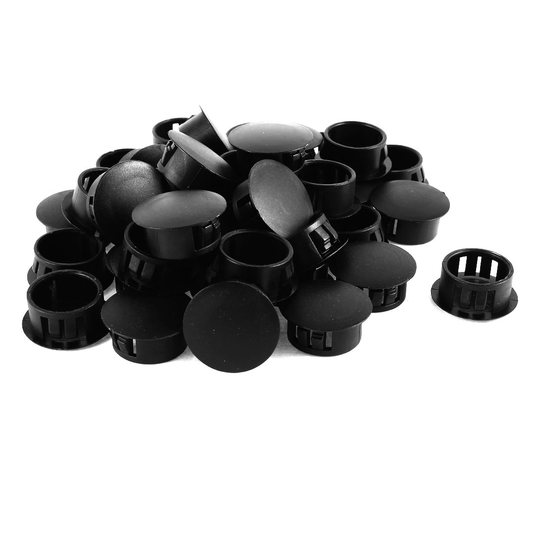 "40 Pcs Black Plastic Locking 3/4"" 19mm Dia. Panel Hole Plugs"