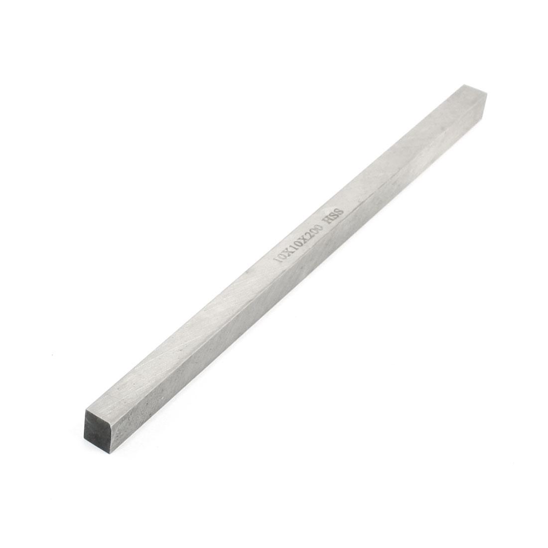 10mm x 10mm x 200mm Turning Parting Milling Lathe HSS Tool Bit Gray