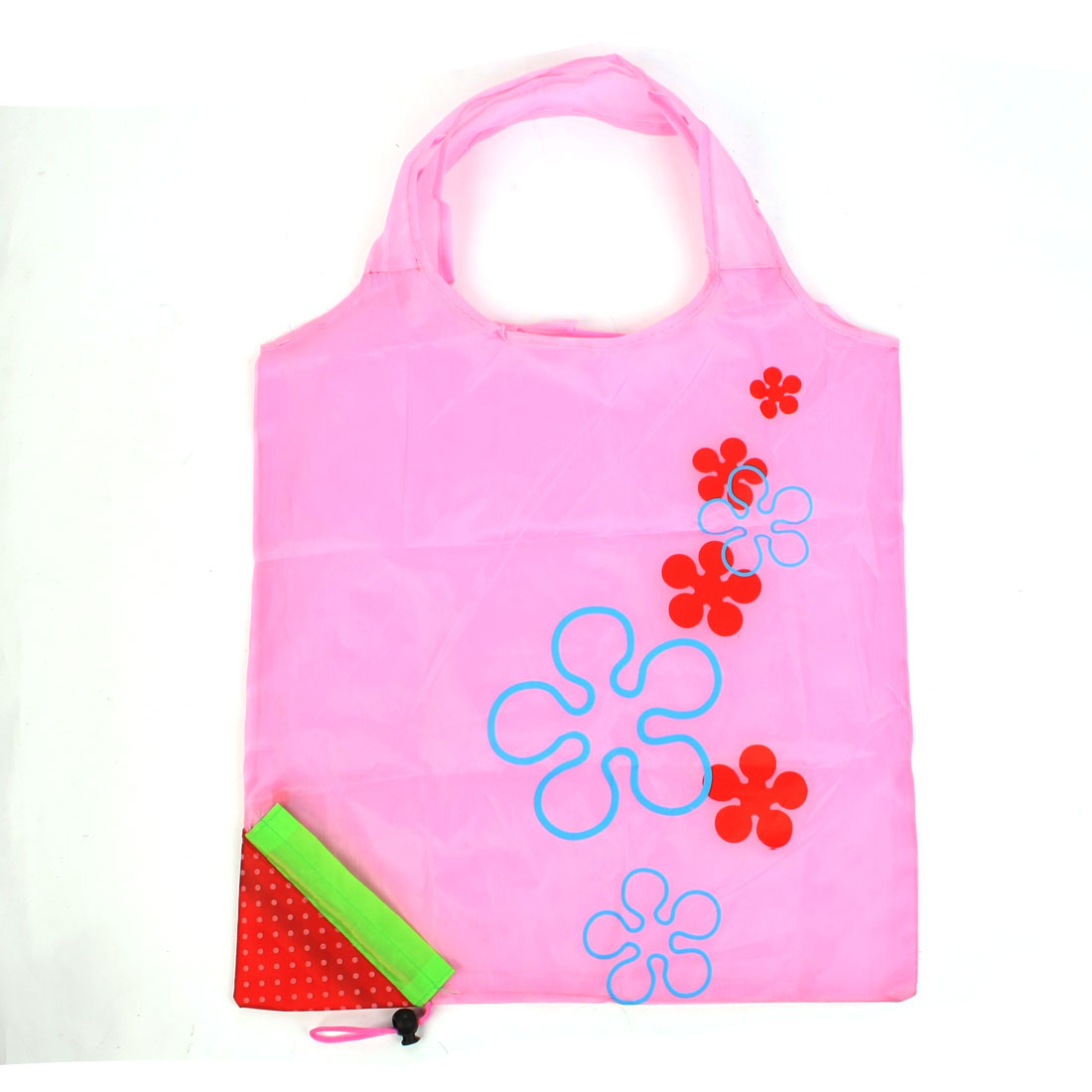 Dotted Strawberry Design Pink Red Reusable Shopping Bag
