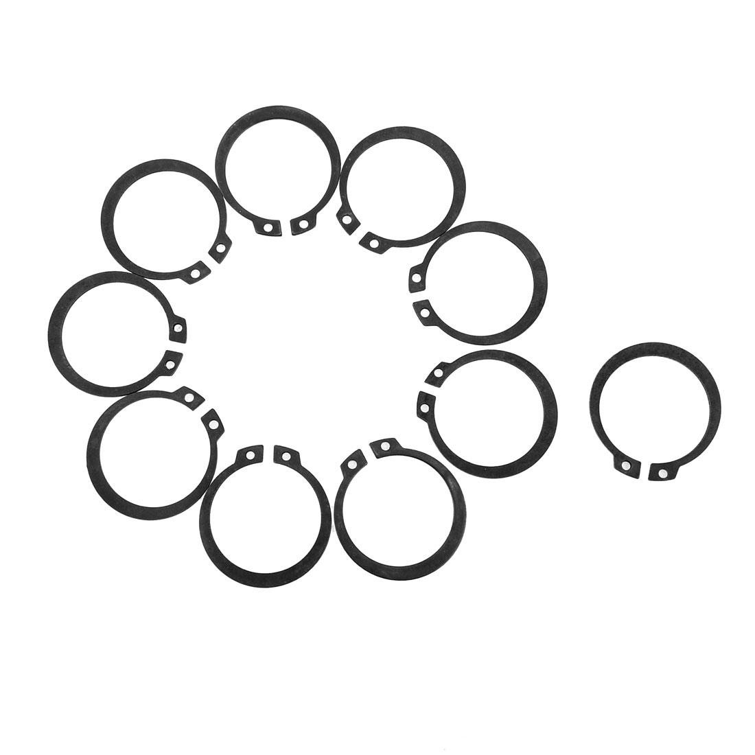 10 Pcs Axle Shaft Metal Inner Dia 33mm External Circlip Snap Ring