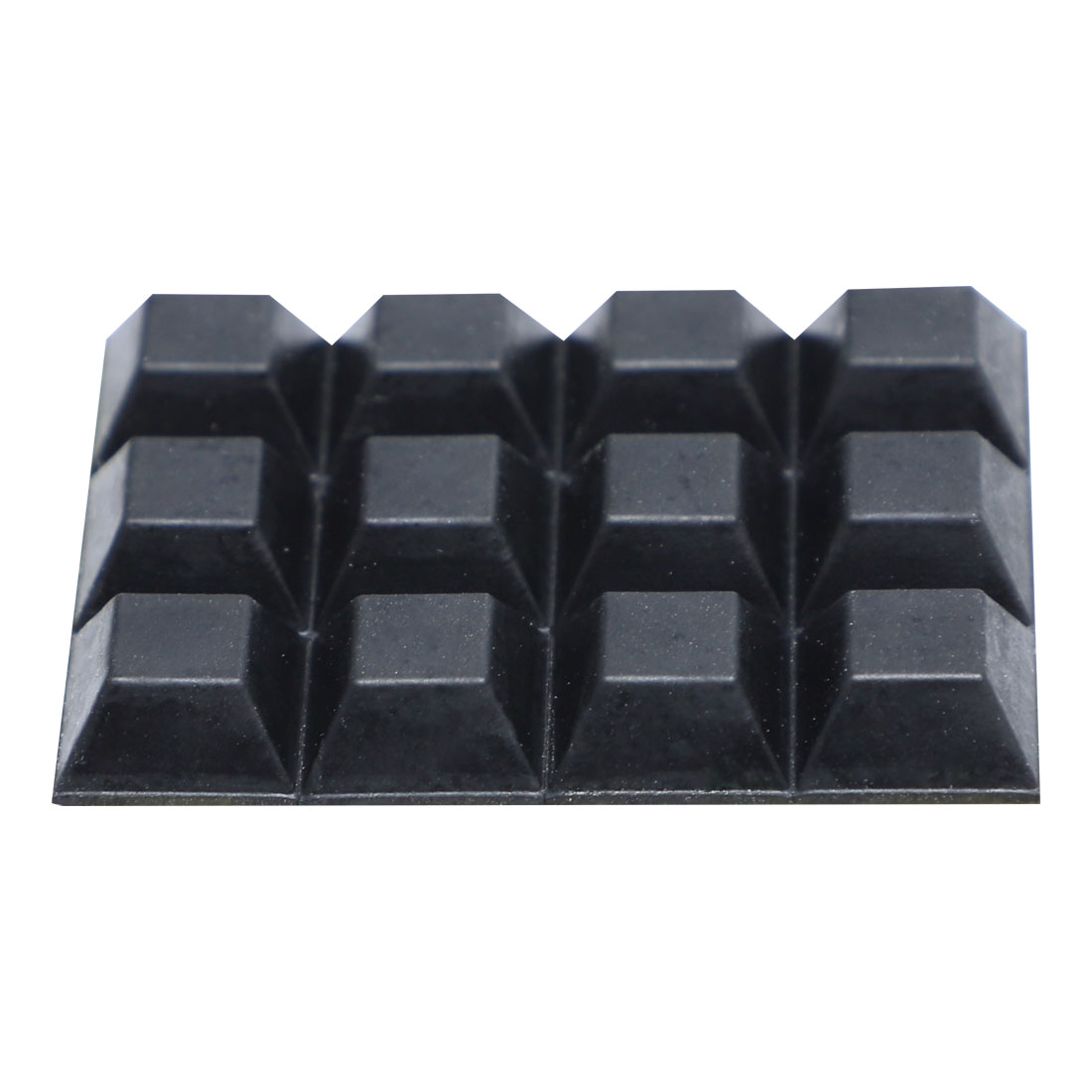 Chair Furniture Square 12mmx12mmx6mm Self Adhesive Rubber Pads 12 in 1