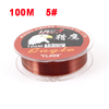 0.37mm Dia 16.7Kg Coffee Color Nylon Freshwater Fishing Line Fish Tool 100M 5#