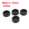 Flexible Round Rubber Earphone Cord Cable Winder Organizer Black 4pcs