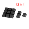 Table Chair Self Adhesive 20mmx20mmx8mm Mini Rubber Foot Pads 12 in 1