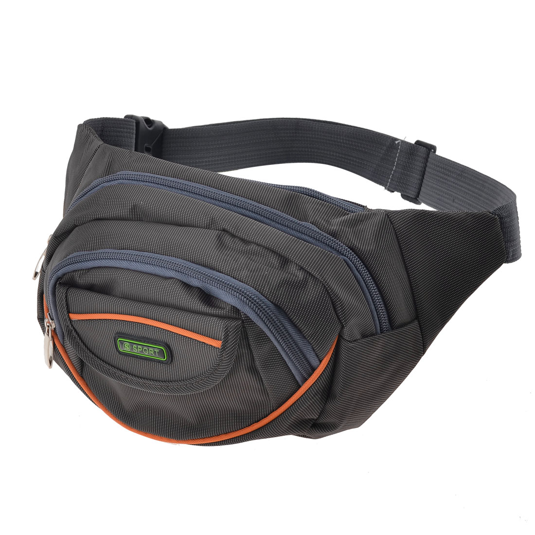 Hook Loop Closure Front Pocket Adjustable Belt Waist Pack Coffee Color for Men