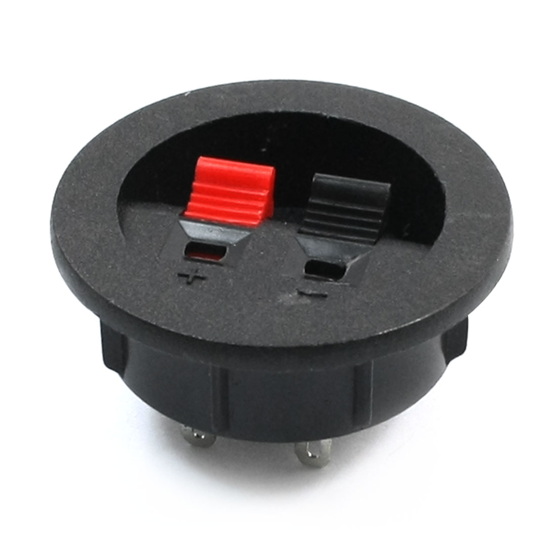 Push Type 2 Position 2 Terminal Round Speaker Terminal Cup Black Red
