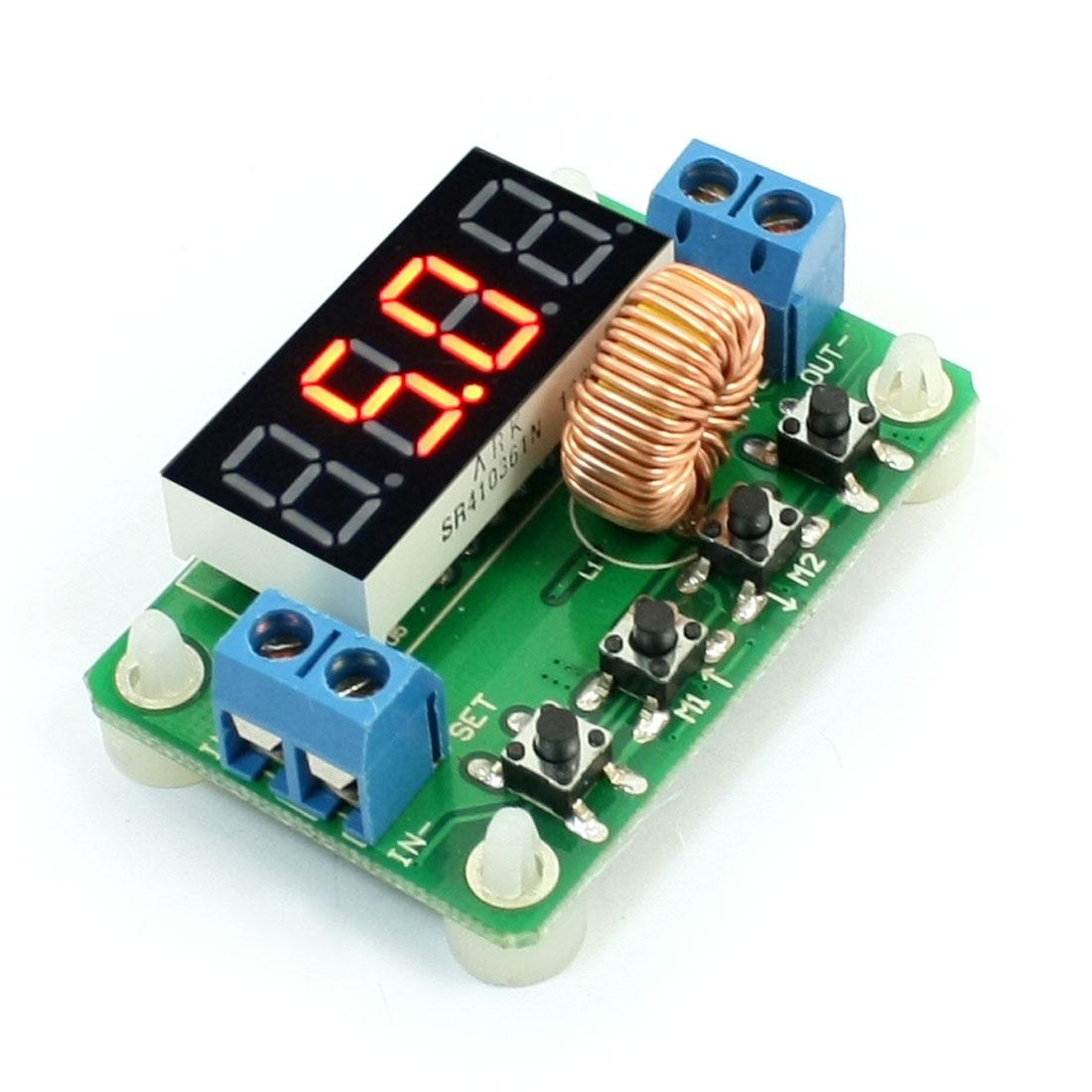 LM2596 Digit Display 0-20V/2A DC-DC 20V Voltage Regulation LED Power Module