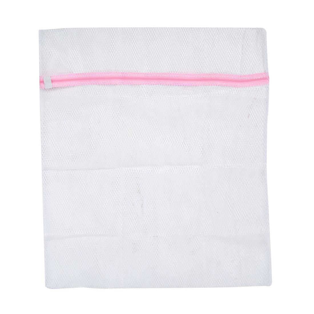 Laundry 58cm x 48cm White Coast Clothes Zipper Nylon Mesh Washing Bag