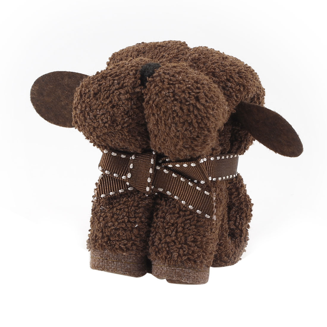 Wedding Party Chocolate Color Bowknot Decor Mini Puppy Dog Shaped Towel Gift