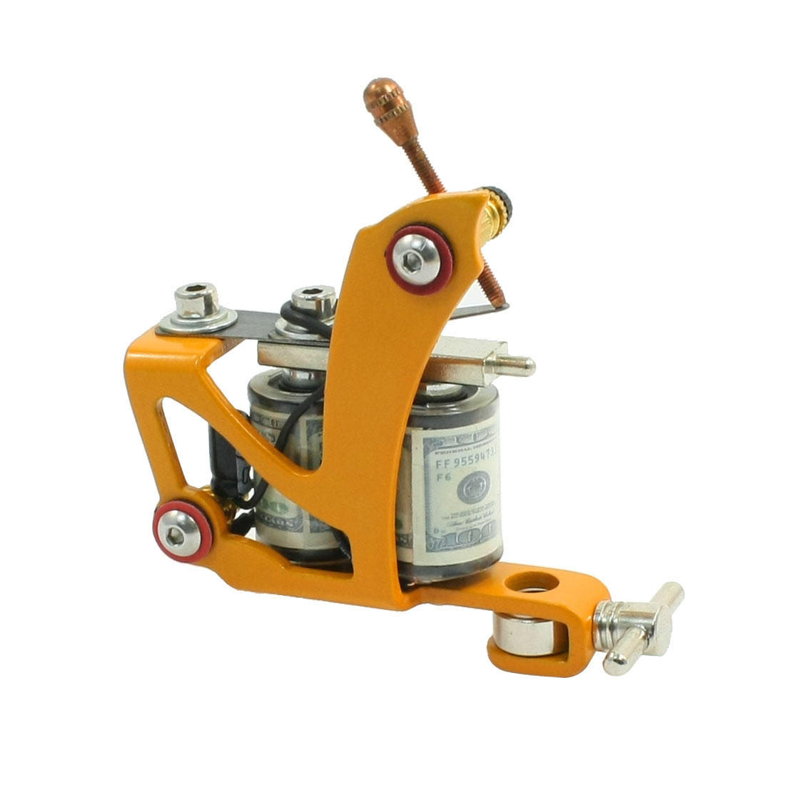 Handmade 10Wrap Coil Cast Iron Tattoo Machine Gun Orange for Liner Shader