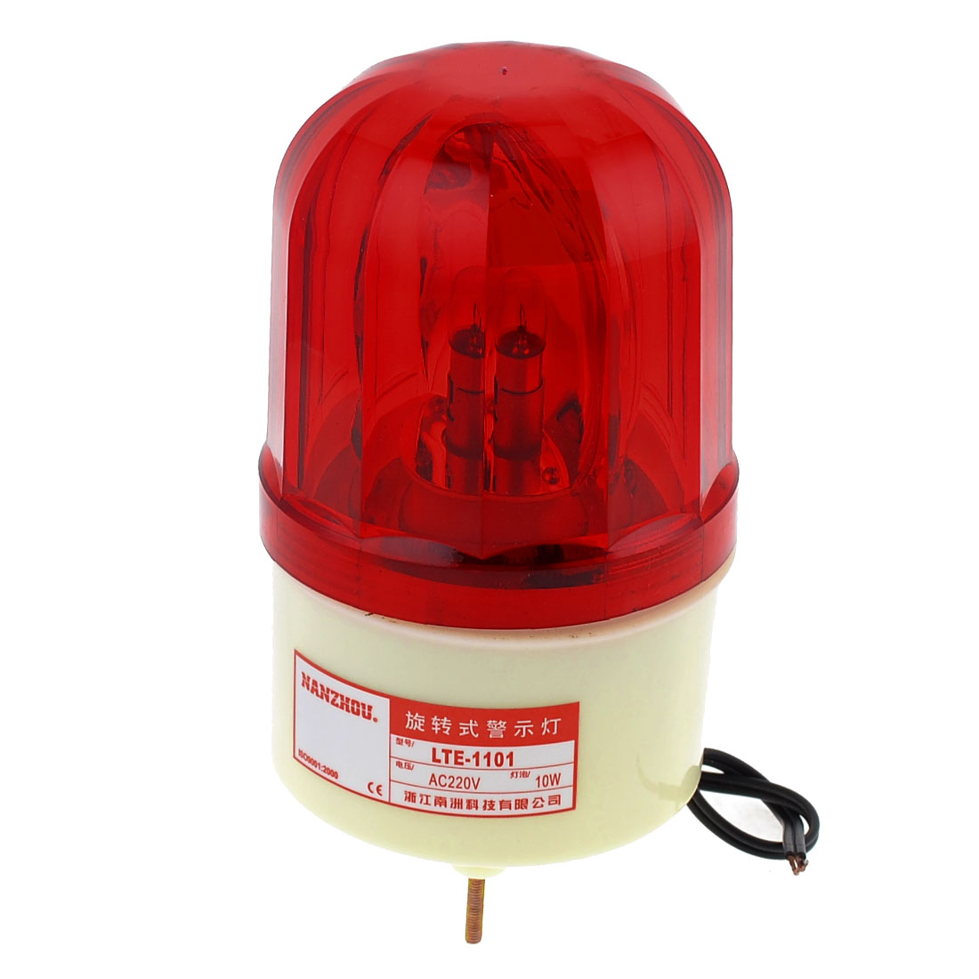 AC 220V 10W Buzzer Sound Industrial Signal Tower Rotating Light Warning Lamp