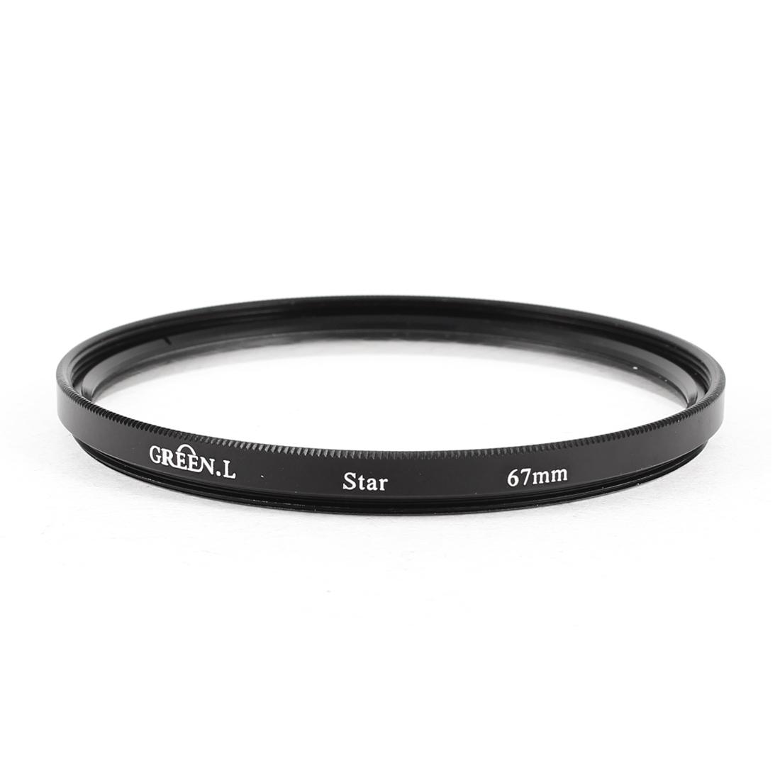 DSLR Camcorder 4 Point Line 4 Cross Screen 4PT 4X Star Filter Lens Black 67mm