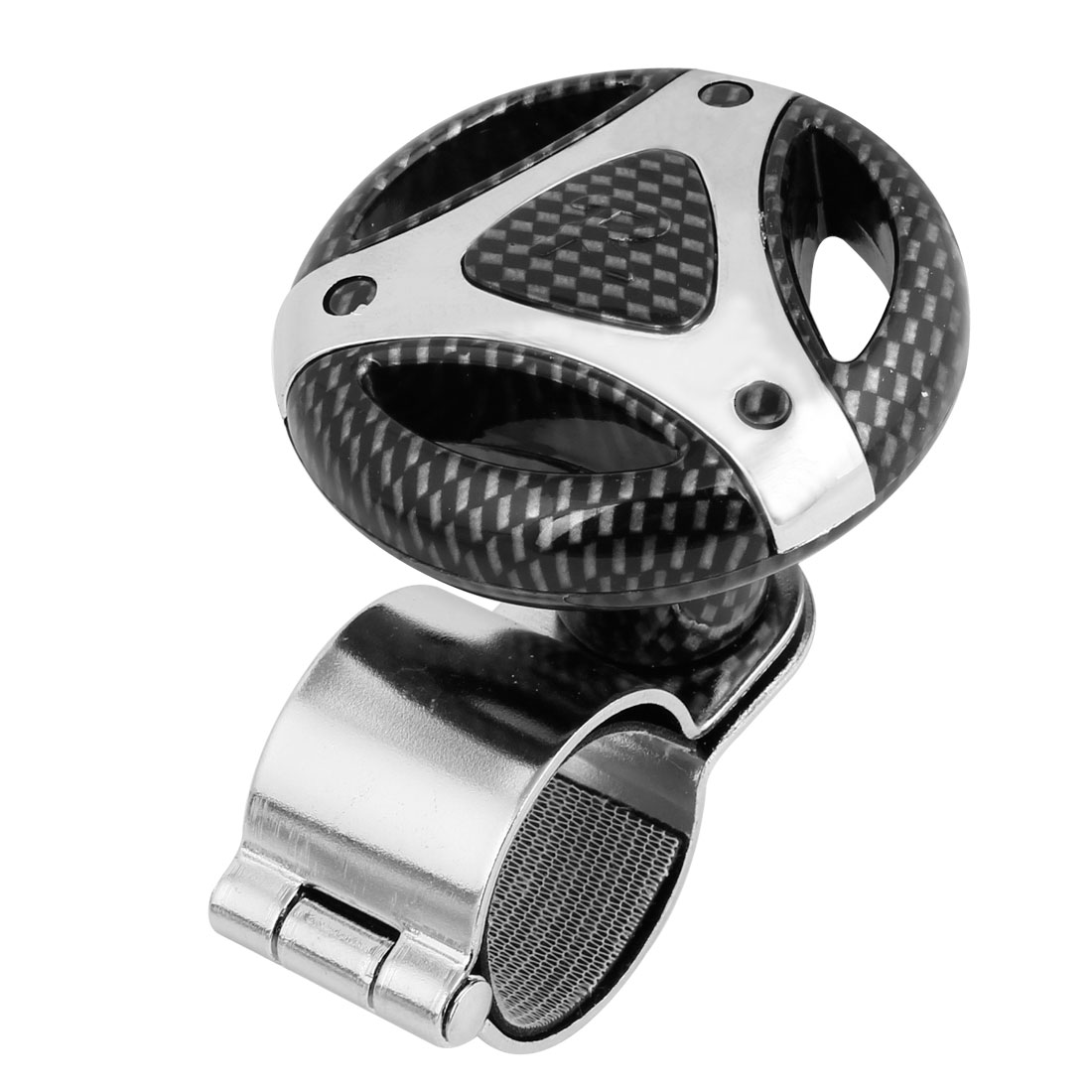 Black Carbon Fiber Pattern Steering Wheel Spinner Knob Power Handle for Car
