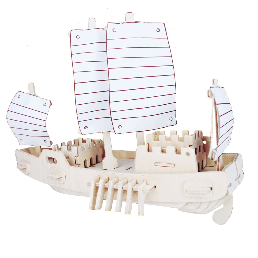 Children Intelligence Puzzle Toy DIY Wooden 3D Russian Ship