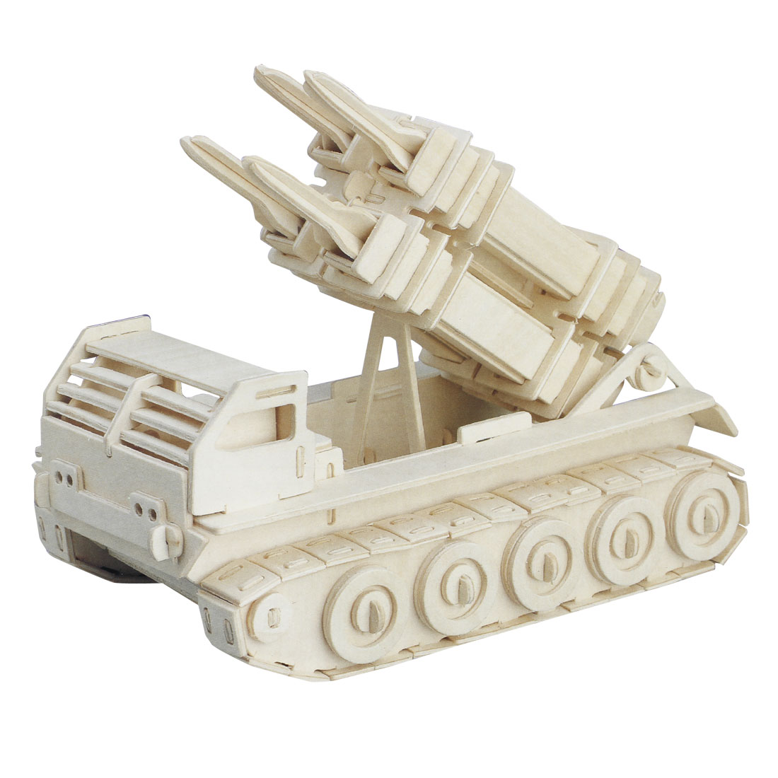 Children Intelligence Puzzle Toy 3D Patriot Missile Tank Model