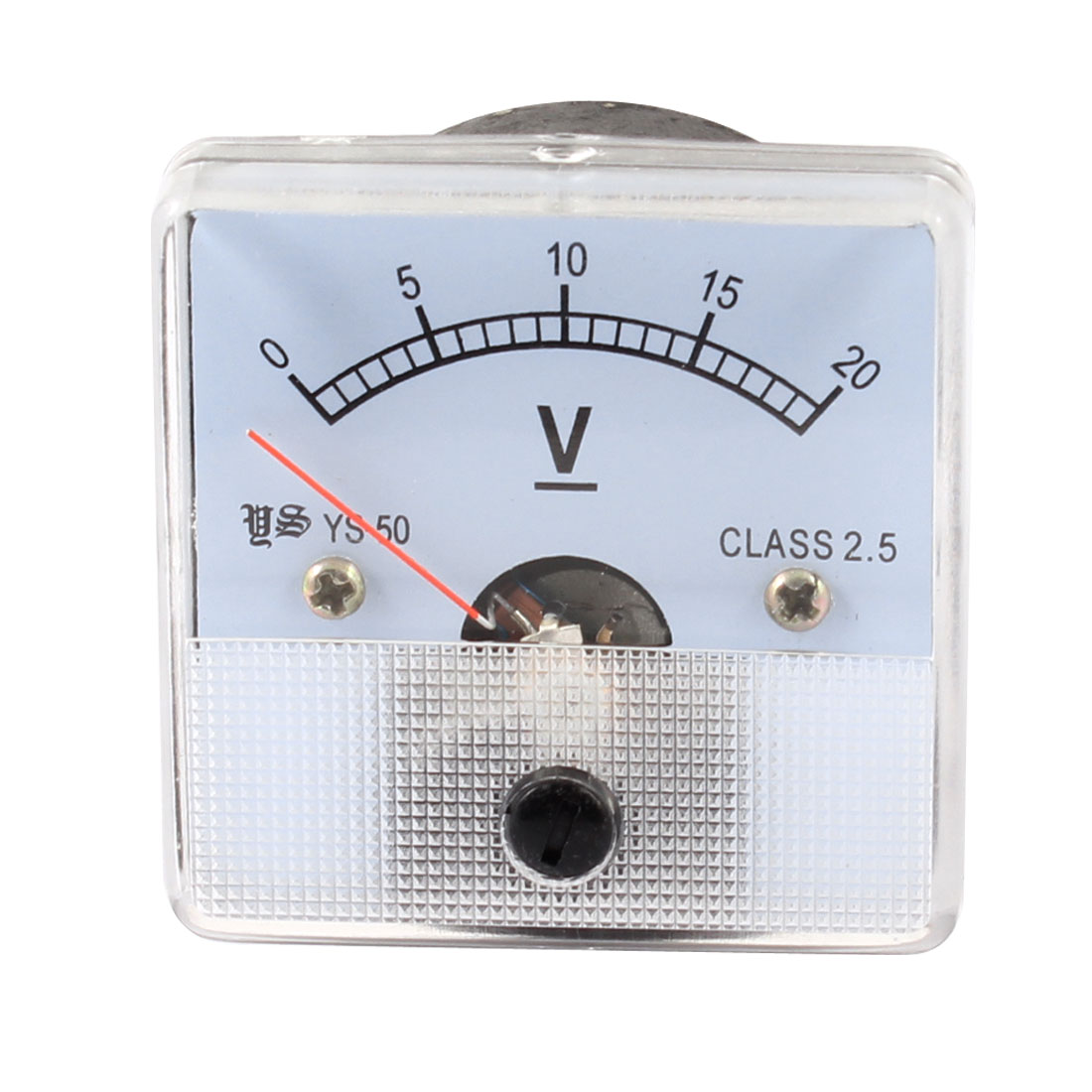 DC 0-20V Class 2.5 Fine Tuning Square Shaped Analog Voltage Meter Voltmeter