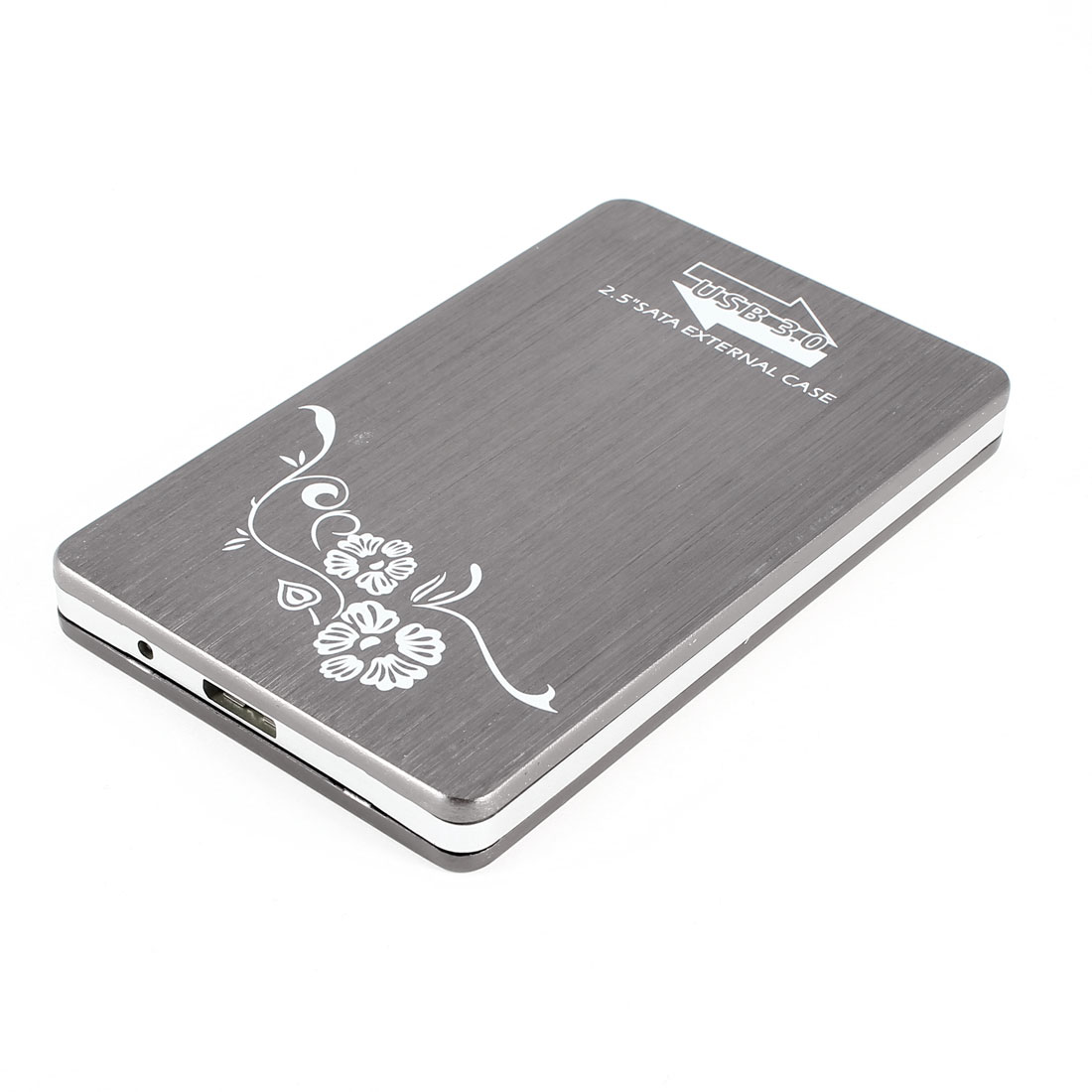 "Gray USB3.0 2.5"" SATA Hard Disk Drive External Case w USB Cable"
