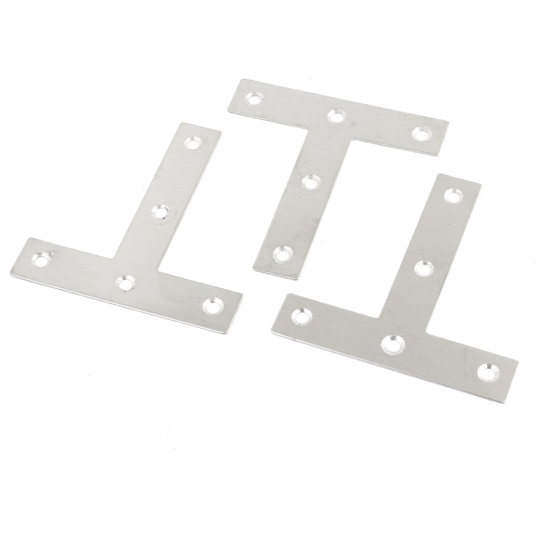 80mm x 80mm Stainless Steel T Shape Angle Bracket 3pcs