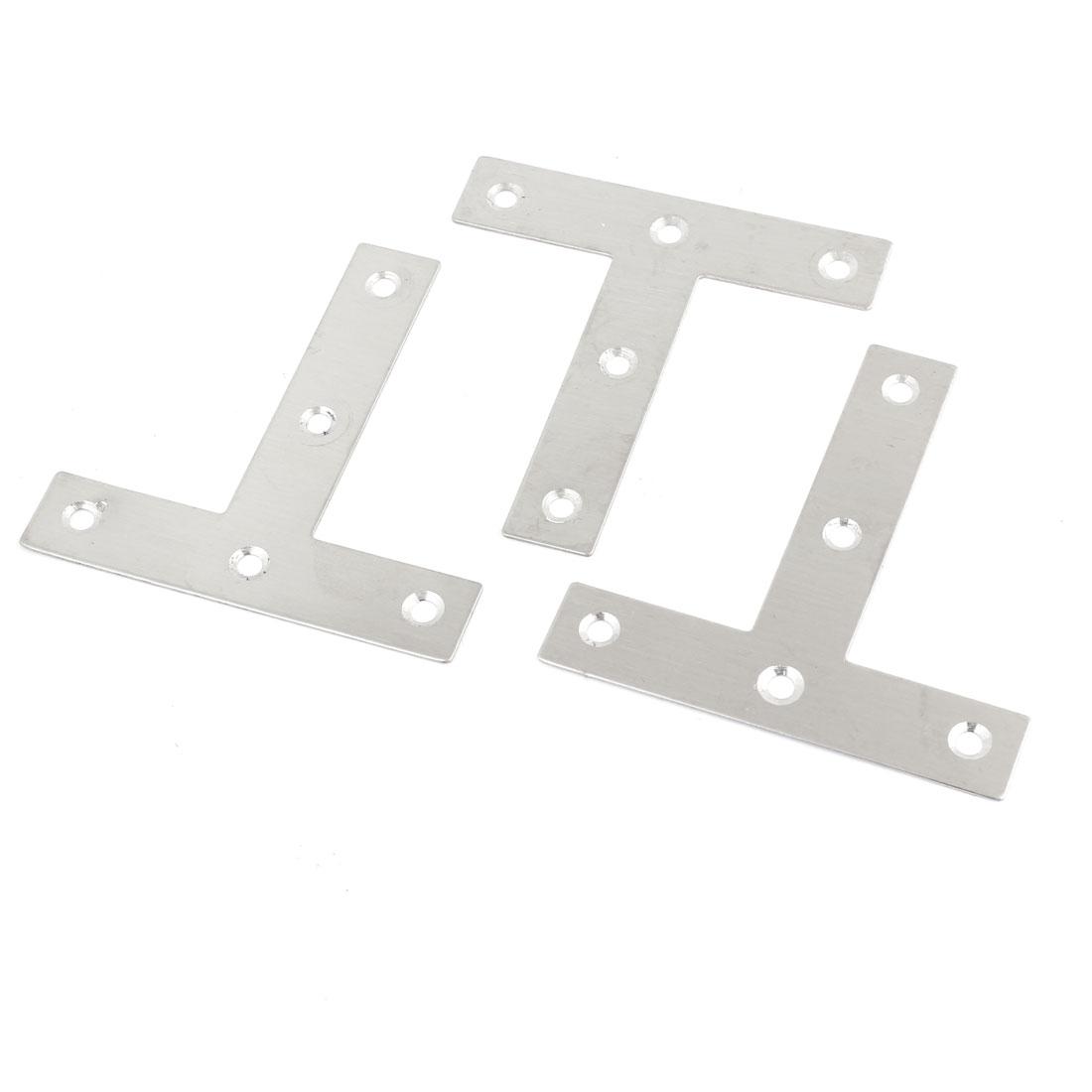 80mm x 80mm Stainless Steel T Shape Angle Bracket 3pcs