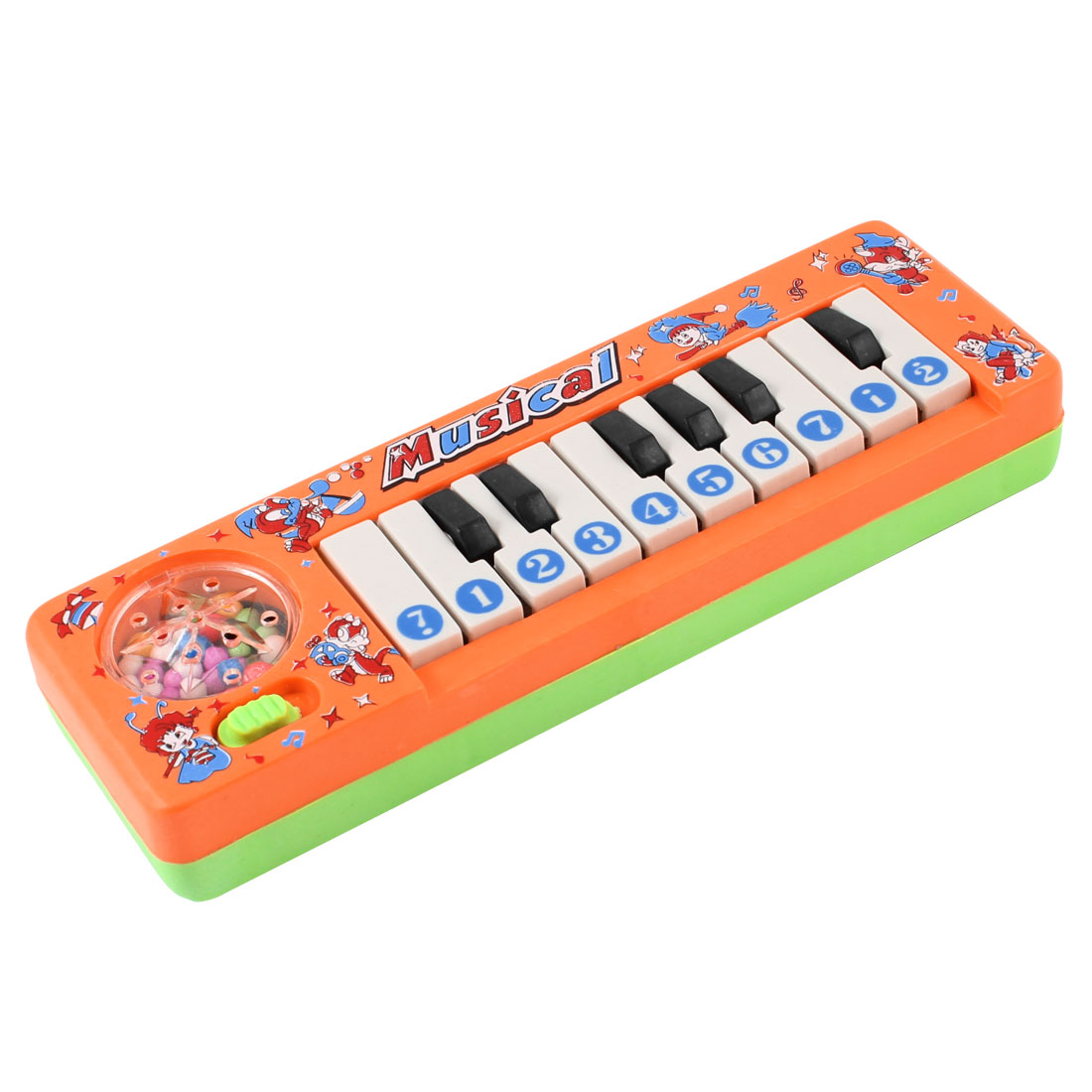 Powered Piano Keyboard Plastic Electronic Organ Toy Orange