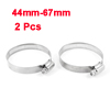 Adjustable 44mm-67mm Stainless Steel Worm Gear Hose Clamps 2 Pcs