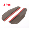 2 Pcs Clear Black Soft Plastic Adhesive Rainproof Blade Rear View Mirror Rain Shield for Car