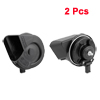 2 Pcs DC 12V Auto Car Electric Snail Horn Siren Black for BMW 3 series 5 series