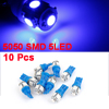 T10 W5W 152 158 159 5050 SMD 5-LED Car Side Light Bulb Dashboard Lamp Blue 10pcs