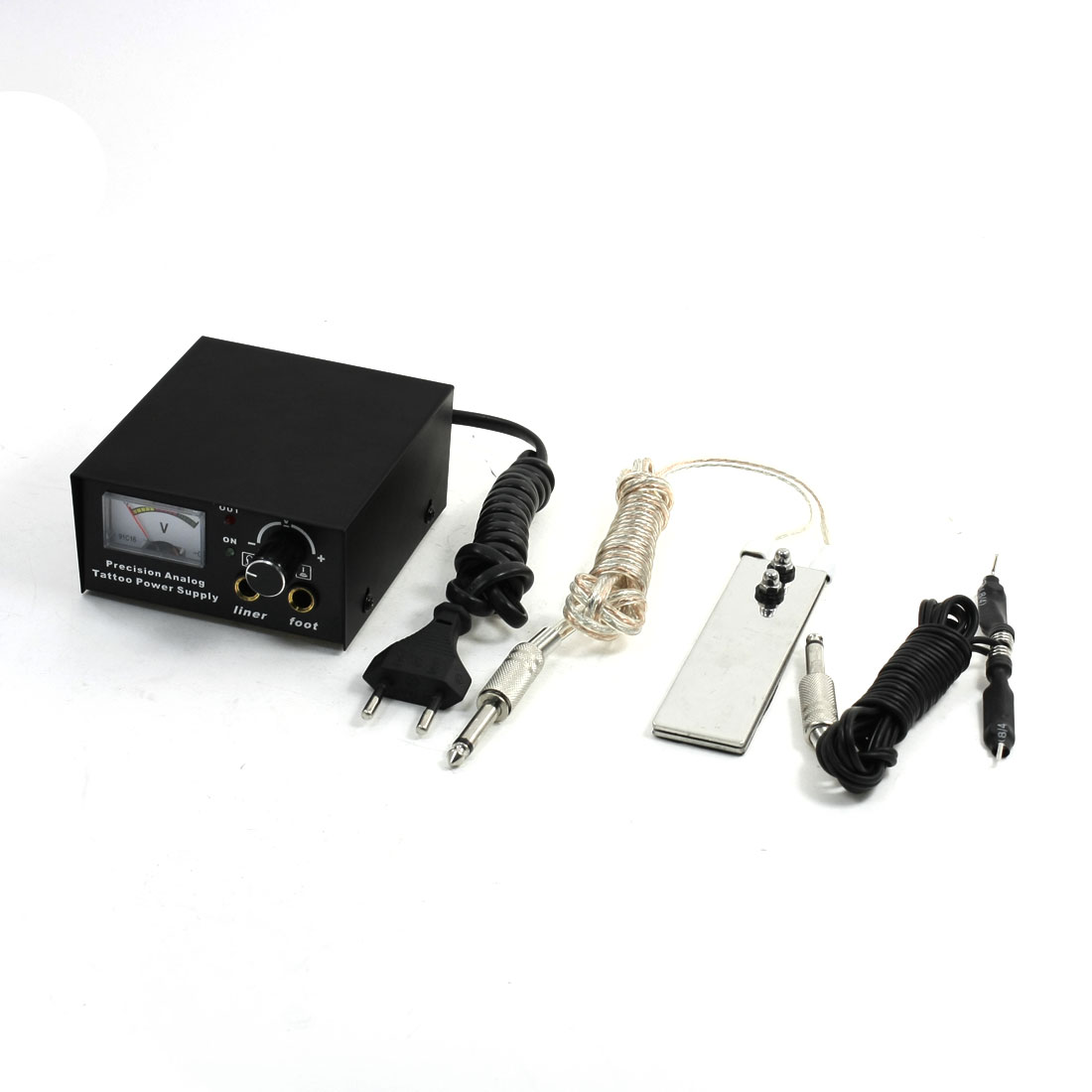 EU Plug AC 90-250V Digital LED Tattoo Power Supply w Clipcord