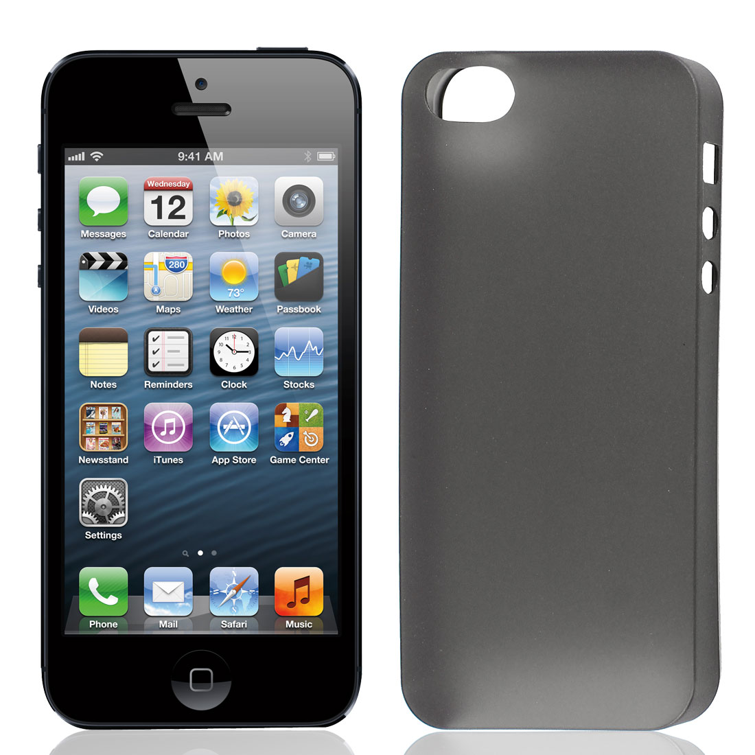 Black Plastic 0.3mm Ultra-Thin Matte Case Cover Slim for Apple iPhone 5 5G 5S