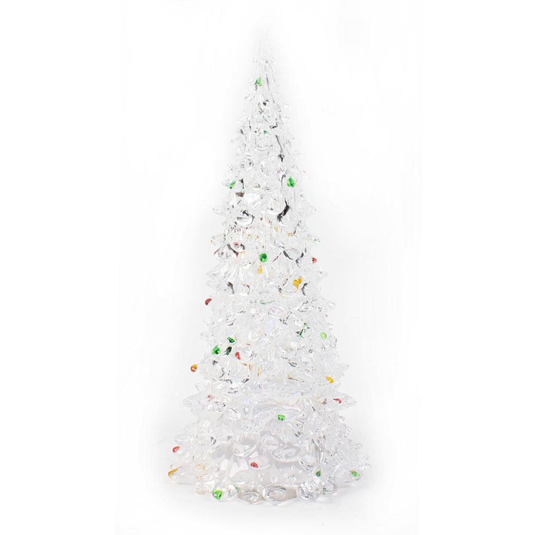"8.7"" High Clear Shell Colorful LED Christmas Tree Shape Light Lamp"