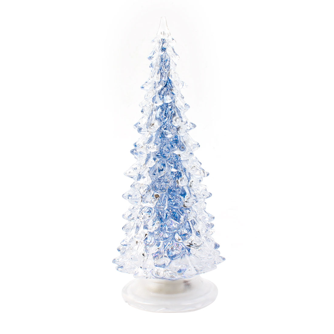 "7.5"" High Blue Clear Shell Colorful LED Christmas Tree Shape Light Lamp"