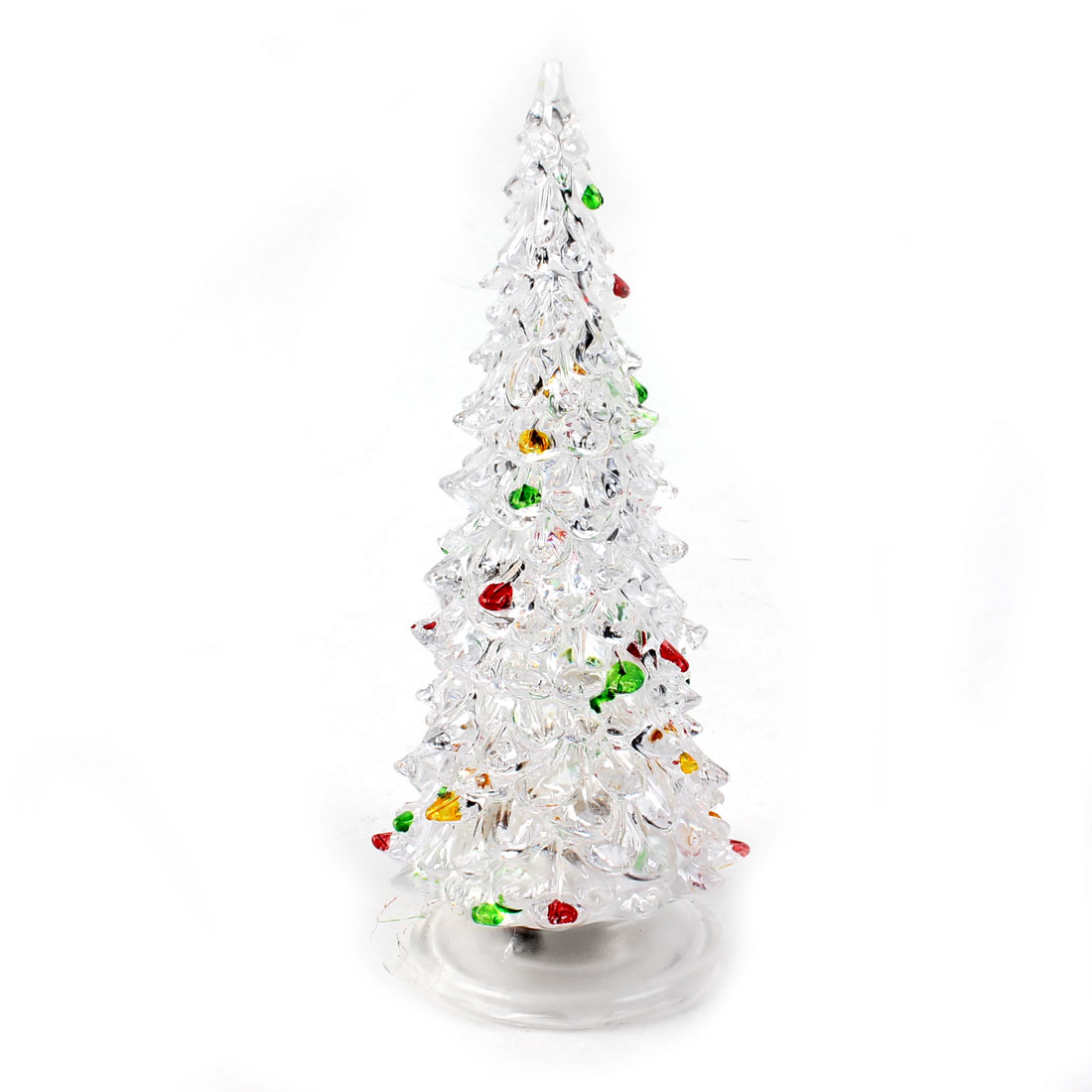 "7.5"" High Clear Shell Colorful LED Christmas Tree Shape Light Lamp Decor"