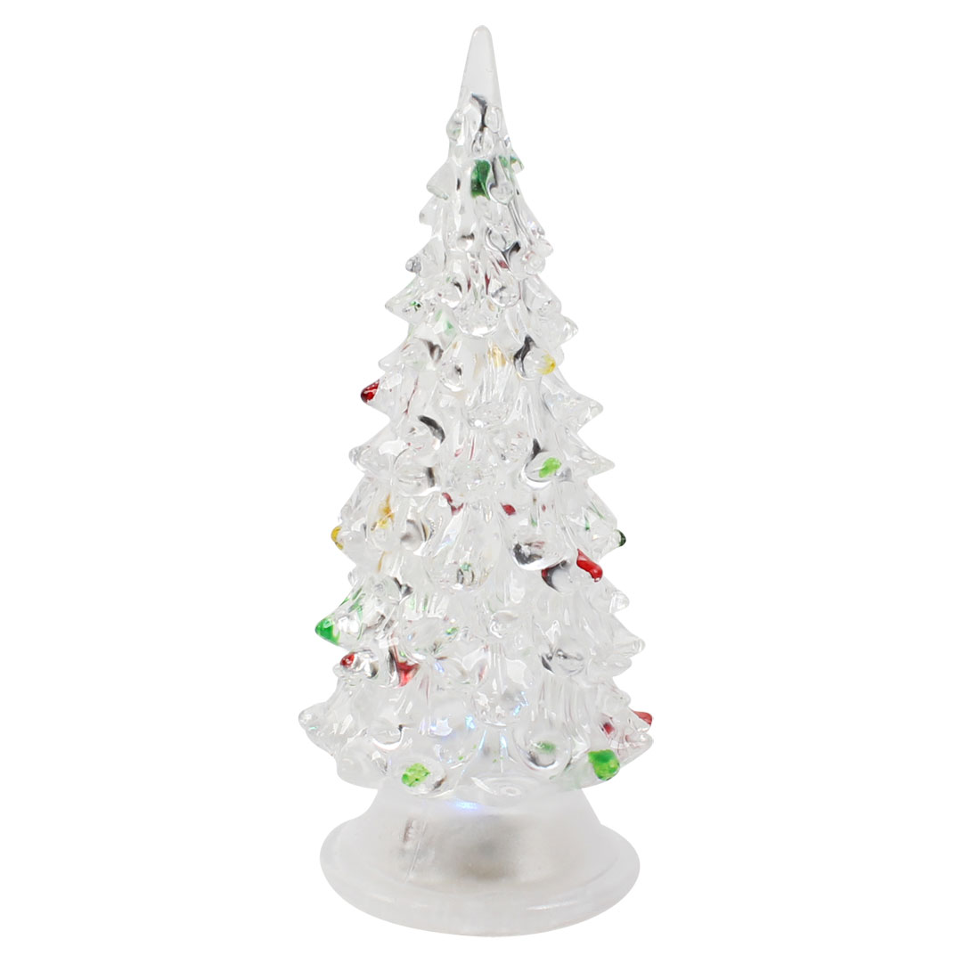 "5.7"" High Christmas Tree Shape Tri Color Changing LED Light Lamp Decor"