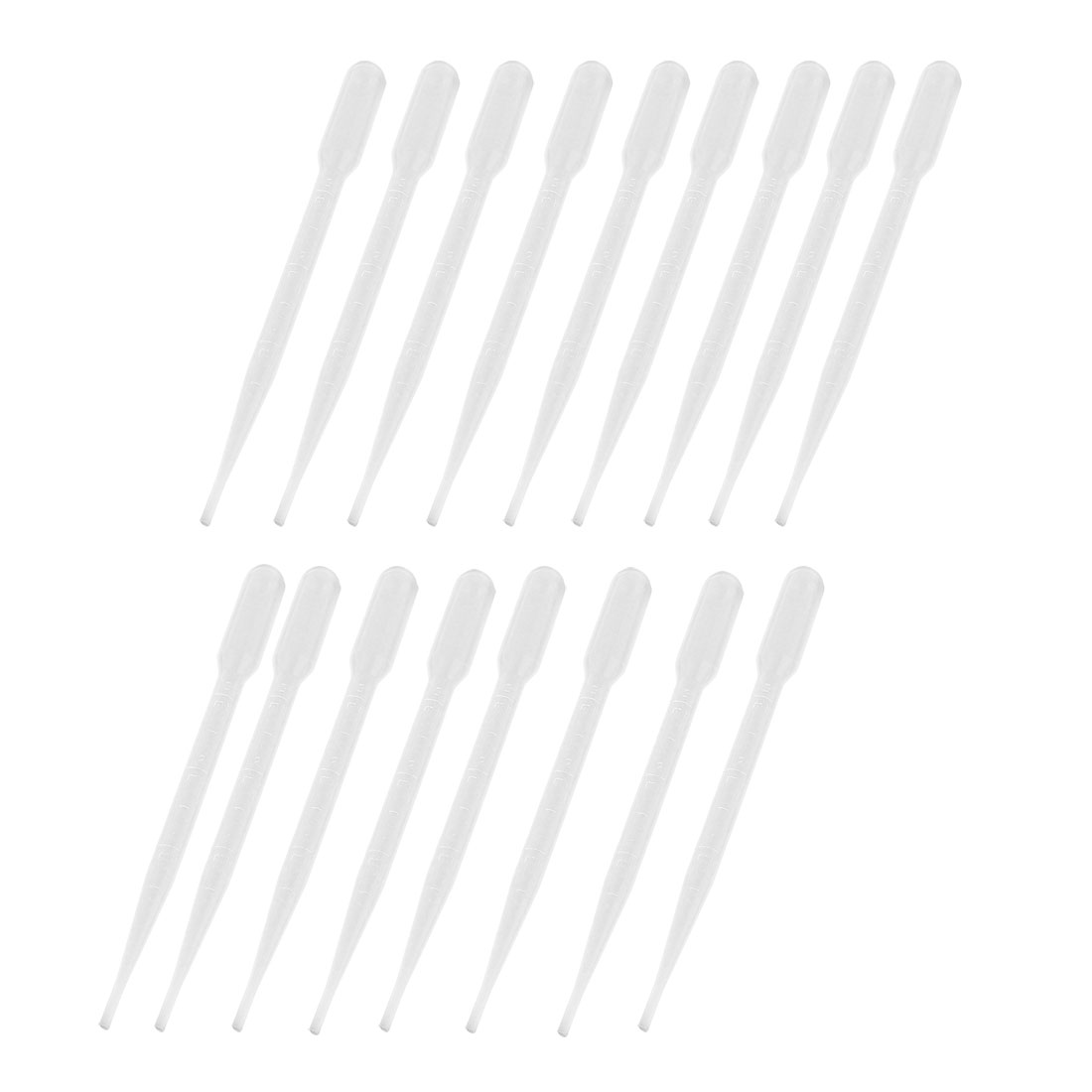 "15 Pcs 3ML Capacity Lab Transparent Pipettes Droppers 6.2"" Length"