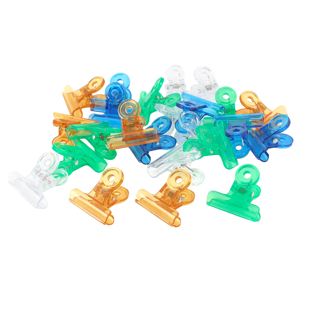 24 Pcs Plastic Office Stationery Binder Clips Colorful Color
