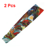 2 Pcs Colorful Dragon Printed Sun Protection Fake Temporary Tattoo Arm Sleeves